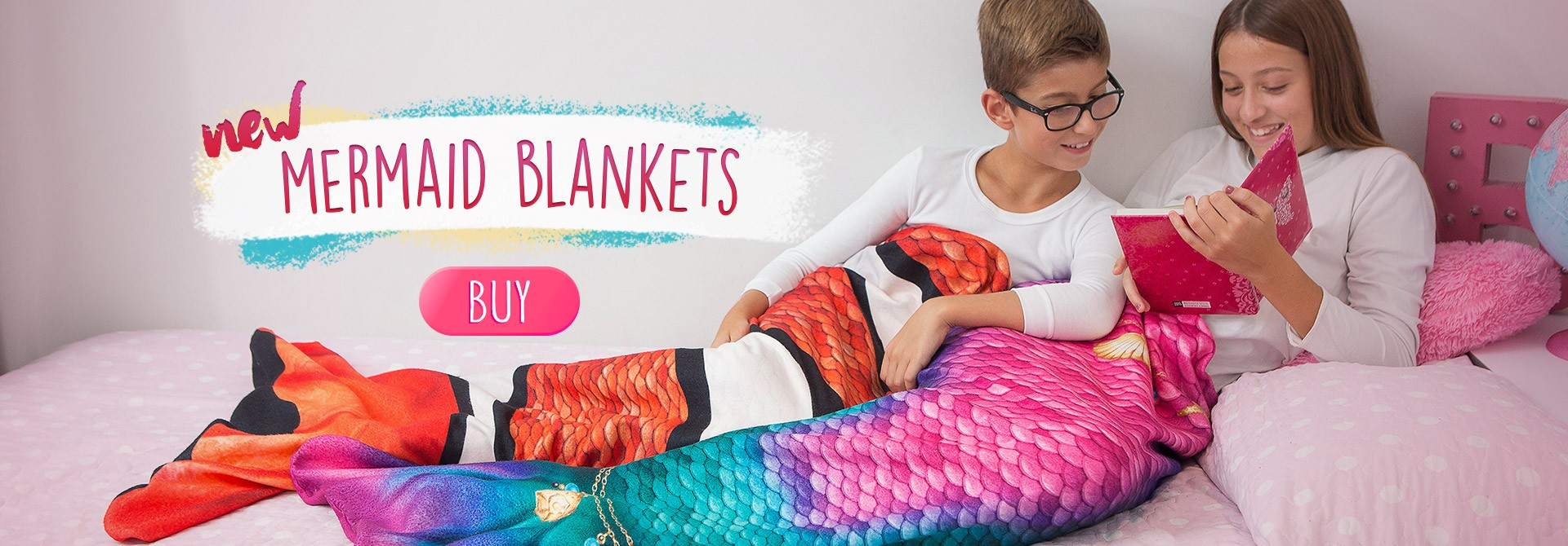 Mermaid shark blankets